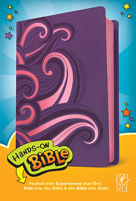Picture of Hands-On Bible NLT (Leatherlike, Purple/Pink Swirls)