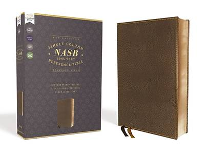 Nasb, Single-Column Reference Bible, Leathersoft, Brown, 1995 Text, Comfort Print