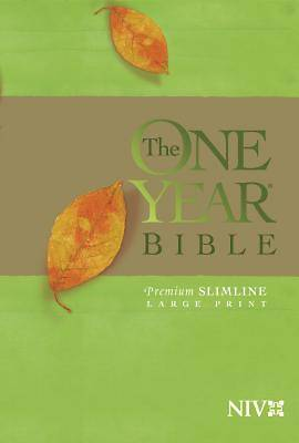 One Year Premium Slimline Bible-NIV-Large Print