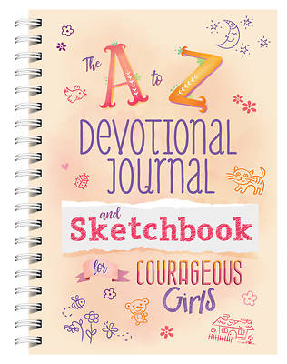 Picture of A to Z Devotional Journal and Sketchbook for Courageous Girls