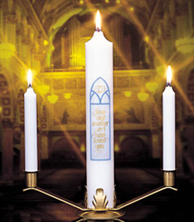 Picture of Abiding Love Wedding Candle Ensemble