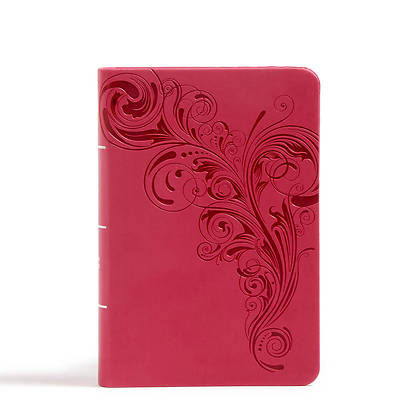 Picture of CSB Large Print Compact Reference Bible, Pink Leathertouch, Indexed