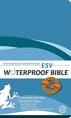 Waterproof New Testament with Psalms and Proverbs-ESV-Blue