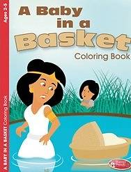 Picture of A Baby in a Basket Coloring Book