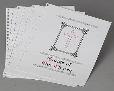 Refill Sheets for Guests of Our Church Book