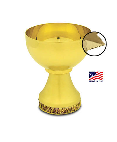 MISSION CHALICE WITH APPLIED POURING SPOUT GOLD PLATED
