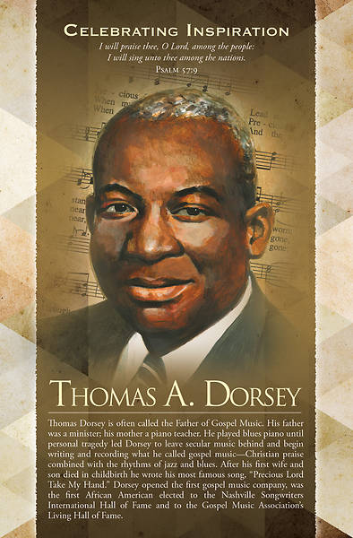 Picture of Thomas A Dorsey Black History Regular Size Bulletin