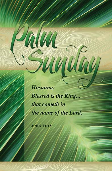 Picture of Hosanna Palm Sunday Regular Size Bulletin