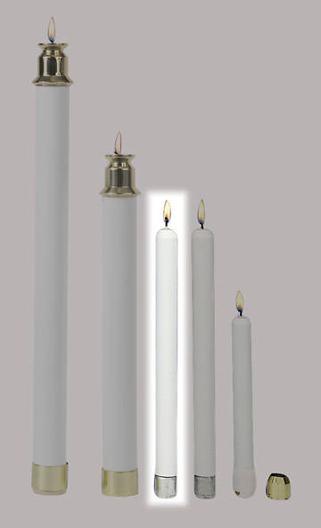 "Tube Candles 10"" Pair"
