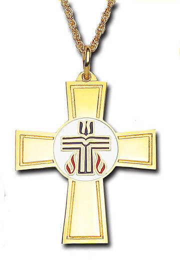 Picture of Presbyterian Gold-Plated Bronze Cross