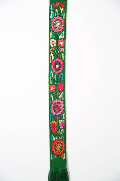 Fair Trade Green Flower Stole