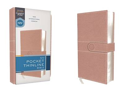 Picture of Niv, Pocket Thinline Bible, Leathersoft, Pink, Snap Closure, Red Letter, Comfort Print