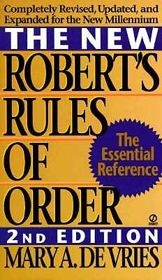 Picture of The New Robert's Rules of Order