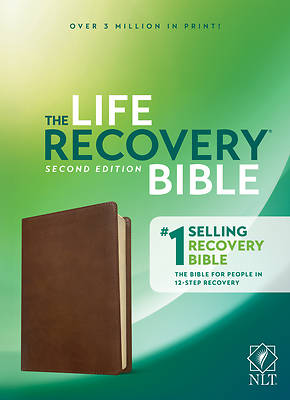 Picture of NLT Life Recovery Bible, Second Edition (Leatherlike, Rustic Brown)