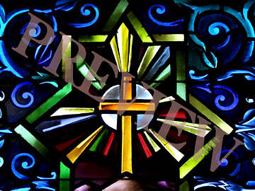 Download Still Stain Glass Yellow Cross