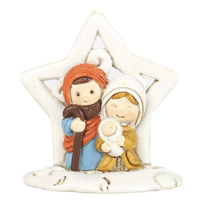 Picture of Star Figurine with Holy Family Resin 2""