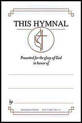 "United Methodist Hymnal Bookplates ""In honor of...""  (Pkg of 48)"