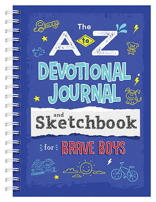 Picture of A to Z Devotional Journal and Sketchbook for Brave Boys