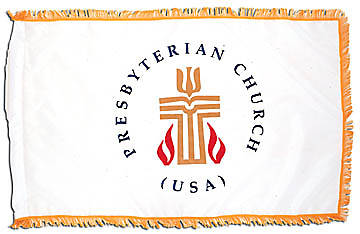 Presbyterian 3X5 8Ft Pole Indoor Flag Set