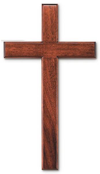 "Picture of 24"" Mahogany Wall Cross"