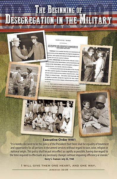 Picture of Desegregation in the Military Black History Regular Size Bulletin