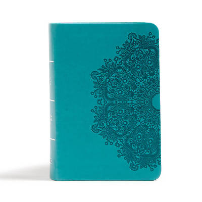 Picture of CSB Large Print Compact Reference Bible, Teal Leathertouch