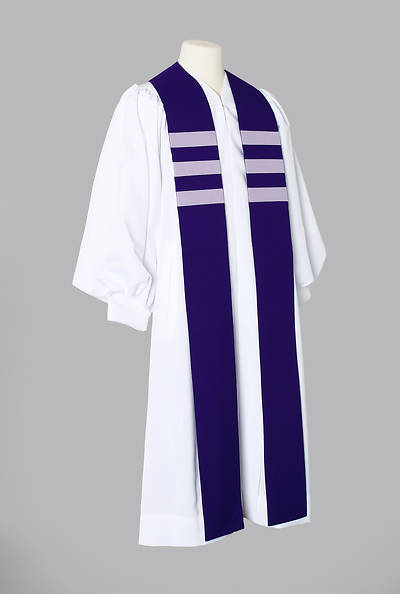 Trinity Stripe Stole - Purple