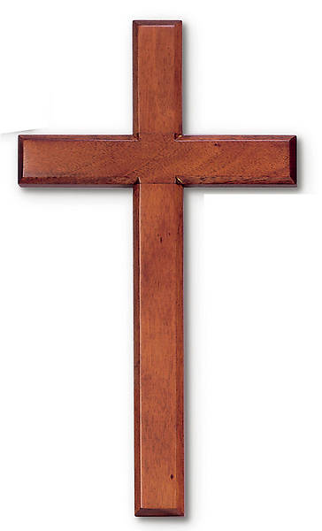 "Picture of 14"" Mahogany Wall Cross"