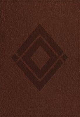 CSB Baker Illustrated Study Bible Brown, Diamond Design Leathertouch