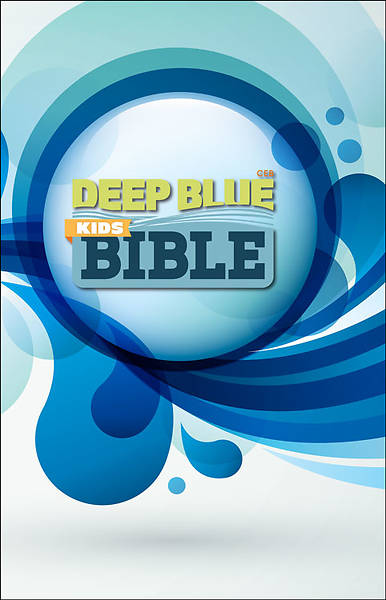 CEB Common English Bible Deep Blue Kids Bible Decotone White Splash