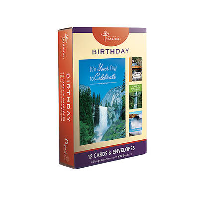 Birthday Boxed Cards-Waterfall Designs Pack of 12