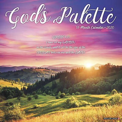 Picture of God's Palette 2020 Wall Calendar