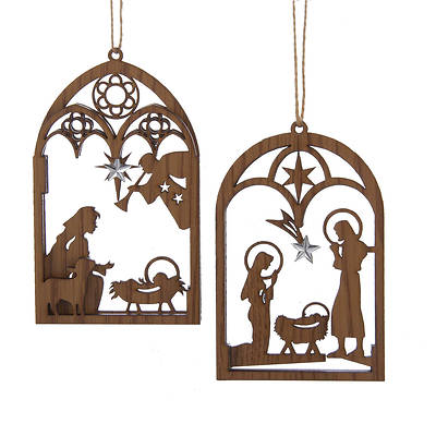 Wooden Nativity Ornament  5.5