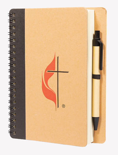 Picture of Notebook Small Spiral Cross and Flame