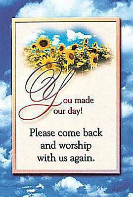 Visitor Sunflower Postcard (Package of 25)