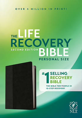 Picture of NLT Life Recovery Bible, Second Edition, Personal Size (Leatherlike, Black/Onyx)