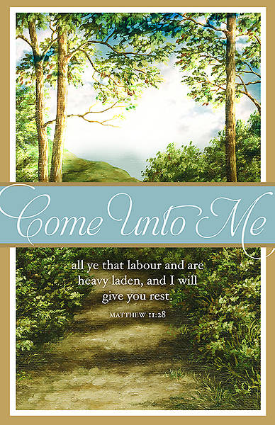 Funeral - Come Unto Me - Regular Size Bulletin
