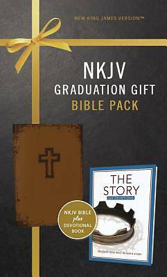 Picture of NKJV, Graduation Gift, Bible Pack for Him, Brown, Red Letter Edition