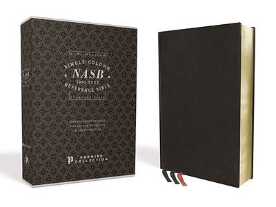 Nasb, Single-Column Reference Bible, Premium Leather, Goatskin, Black, Premier Collection, 1995 Text, Comfort Print