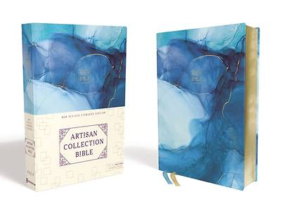Picture of NRSV Artisan Collection Bible, Cloth over Board, Blue, Art Gilded Edges, Comfort Print