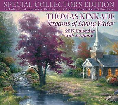 Picture of Thomas Kinkade Special Collector's Edition with Scripture 2017 Deluxe Wall Calen