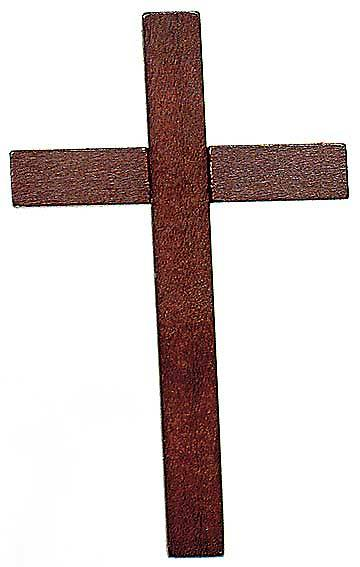 "Cross Wood Necklace Walnut finish. 36"" black cord"