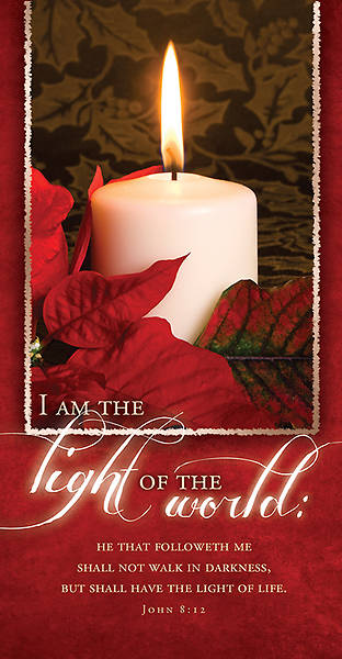Light of the World Christmas Offering Envelope John 8:12 KJV (Package of 100)