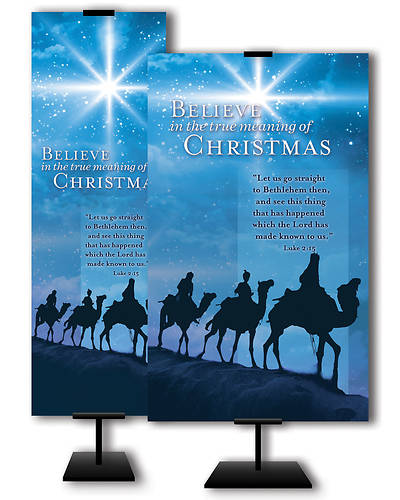 Believe in the True Meaning of Christmas Christmas 3x5 Banner
