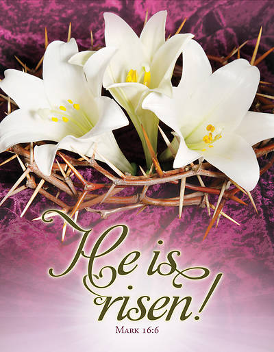 Picture of He is Risen Easter Tabloid