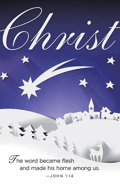 Picture of Christ Paper Art Advent Bulletin (Pkg of 50)