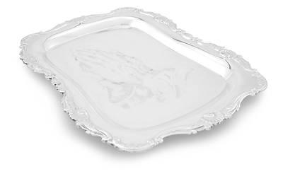 Picture of Praying Hands Gift Tray - Silverplate