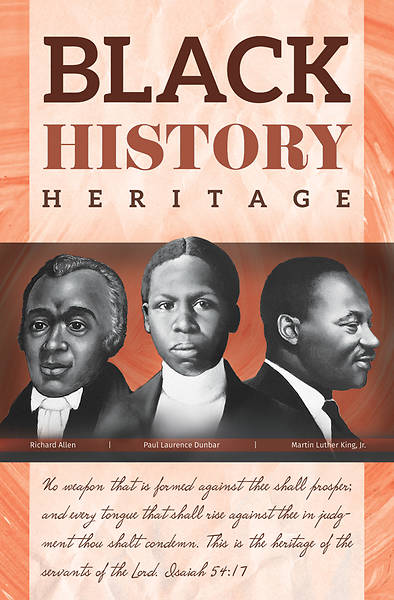 Picture of No Weapon Black History Heritage Regular Size Bulletin