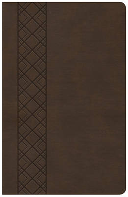 Picture of KJV Ultrathin Reference Bible, Value Edition, Brown Leathertouch