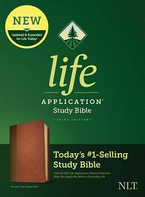 Picture of NLT Life Application Study Bible, Third Edition (Leatherlike, Brown/Tan)